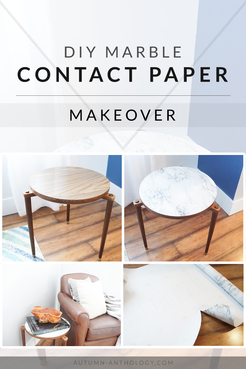Diy Marble Contact Paper Makeover